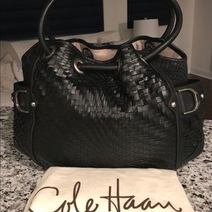 NEW✨SALE✨Cole Haan Genevieve NWT Woven Leather Bag